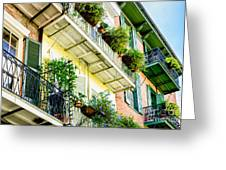 French Quarter Balconies - Nola Greeting Card