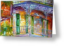 French Quarter Cityscape Greeting Card