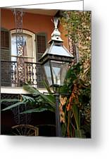 French Quarter Courtyard Greeting Card