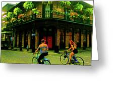 French Quarter Flirting On The Go Greeting Card