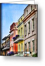 French Quarter In Summer Greeting Card