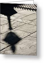 French Quarter Shadow Greeting Card