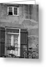 French Quarter Window Greeting Card