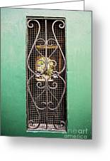 French Quarter Window To The Courtyard Greeting Card