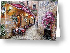 French Restaurant Greeting Card