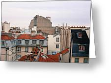 French Rooftops  Greeting Card