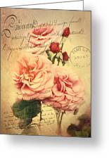 French Rose Bouquet Greeting Card