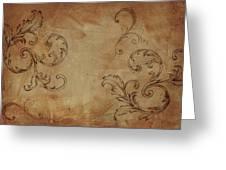 French Scrolls Greeting Card by Jocelyn Friis