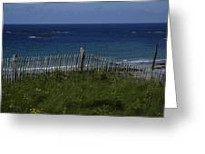 French Seashore Greeting Card