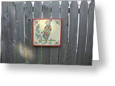 French Tile Colored 4 Greeting Card