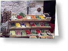 French Vegetable Stand Greeting Card