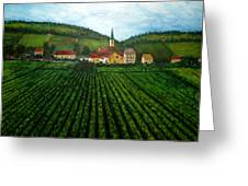 French Village In The Vineyards Greeting Card