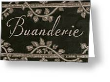 French Vintage Laundry Sign Greeting Card