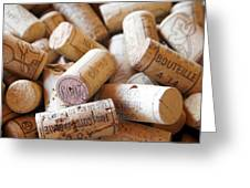 French Wine Corks Greeting Card