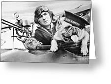 French World War Two Postcard Celebrating The British Bulldog As A Mascot For The Royal Air Force Greeting Card