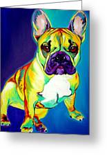Frenchie - Tugboat Greeting Card by Alicia VanNoy Call