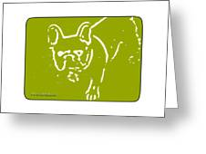 Frenchielove Design Chartreuse Greeting Card