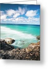 Frenchmans Beach On Stradbroke Island, Queensland. Greeting Card