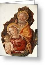 Fresco Holy Family Greeting Card