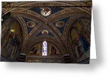 Frescoes Inside The Church At Brolio Greeting Card