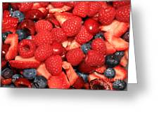 Fresh Berry Salad  Greeting Card