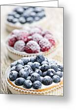 Fresh Berry Tarts Greeting Card