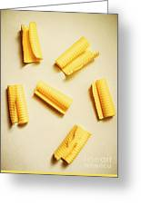 Fresh Butter Curls On Table Greeting Card
