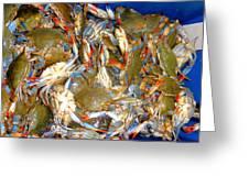 Fresh Crab In Market Greeting Card