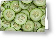 Fresh Cucumbers Greeting Card