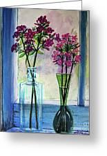 Fresh Cut Flowers In The Window Greeting Card