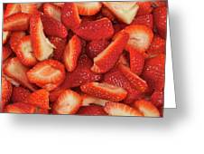 Fresh Cut Strawberries Greeting Card