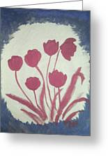 Fresh Flowers- 1st In Series-morning Shadow Greeting Card