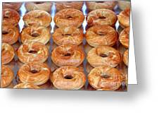 Fresh Frosted Doughnuts On Sale Greeting Card