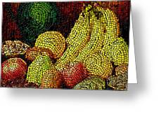 Fresh Fruit Tiled Greeting Card