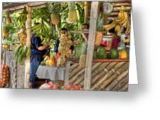 Fresh Fruits For The Day Greeting Card