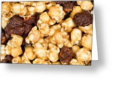 Fresh Gourmet Popcorn In Filled Frame Layout  Greeting Card