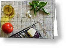 Fresh Italian Cooking Ingredients Greeting Card