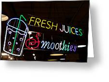 Fresh Juices Greeting Card