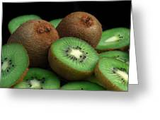 Fresh Kiwi Greeting Card by Terence Davis