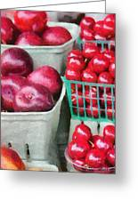 Fresh Market Fruit Greeting Card