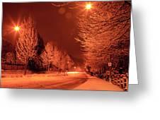 Fresh Morning Snow Greeting Card