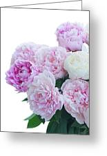 Vase Of Peonies Greeting Card