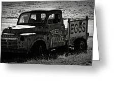 Fresh Produce Free Range Eggs Greeting Card