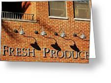 Fresh Produce Signage Greeting Card