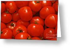 Fresh Red Tomatoes Greeting Card