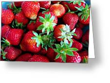 Fresh Ripe Perfect Strawberry Greeting Card