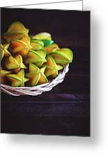 Fresh Ripe Starfruits Greeting Card