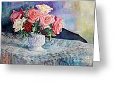 Fresh Roses Greeting Card