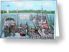 Fresh Seafood  Greeting Card