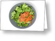 Fresh Seafood Salad With Smoked Salmon Greeting Card
